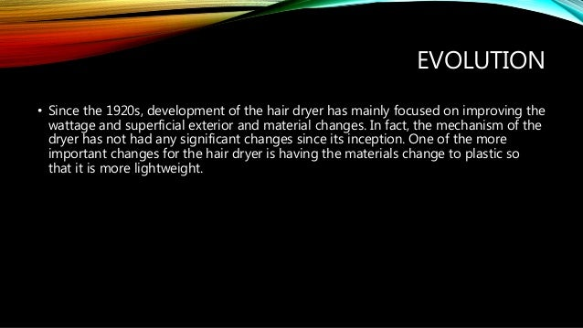 The History Of The Hair Dryer