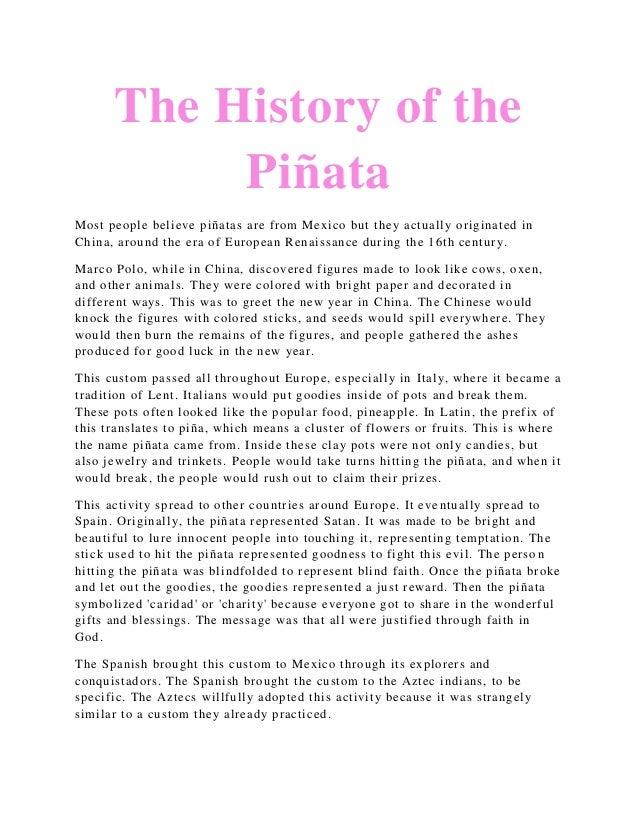 History of the pinata