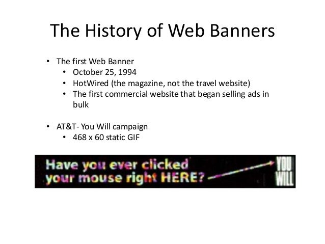 The history of web banners Slide 2