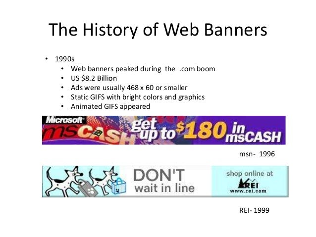 The history of web banners Slide 3