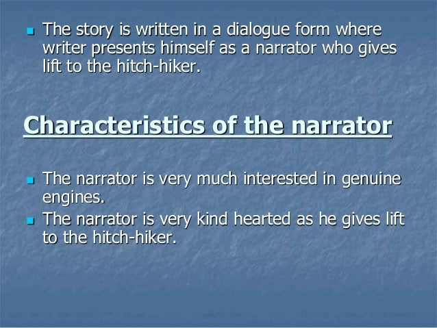 character analysis hitch hiker roald dahl Talked with animals the mildenhall treasure the hitch-hiker roald dahl  dahls marvellous medicine charlie and the chocolate factory by roald dahl book analysis.