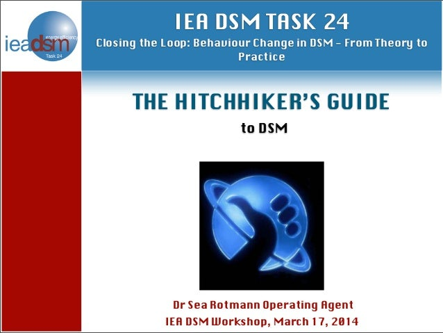Subtasks of Task XXIV Dr Sea Rotmann Operating Agent IEA DSM Workshop, March 17, 2014 IEA DSM TASK 24 Closing the Loop: Be...