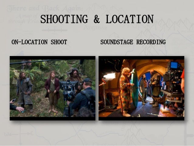 SHOOTING & LOCATION ON-LOCATION SHOOT  SOUNDSTAGE RECORDING