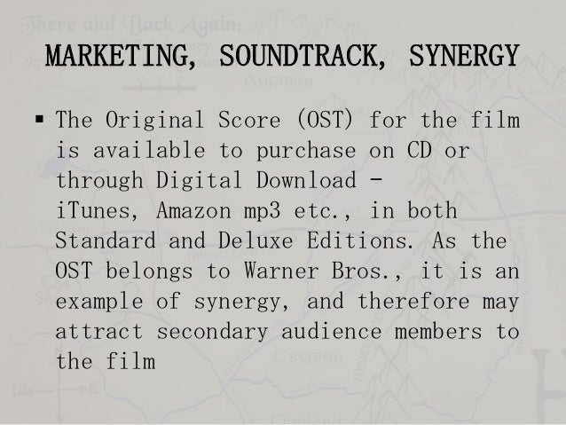 MARKETING, SOUNDTRACK, SYNERGY  The Original Score (OST) for the film is available to purchase on CD or through Digital D...