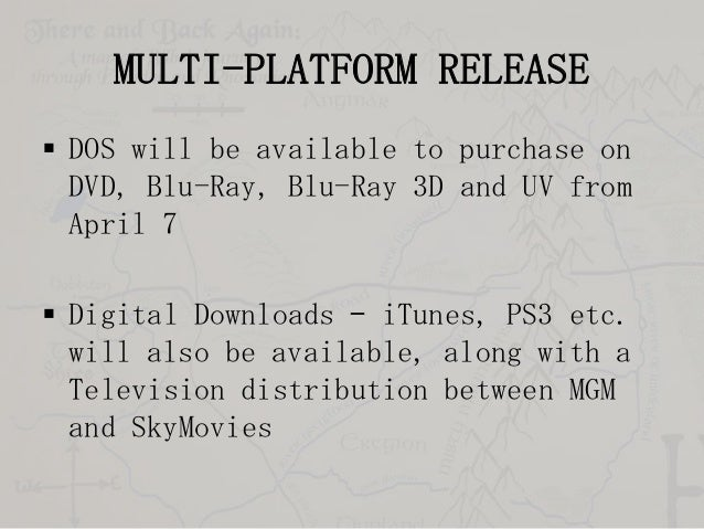 MULTI-PLATFORM RELEASE  DOS will be available to purchase on DVD, Blu-Ray, Blu-Ray 3D and UV from April 7   Digital Down...