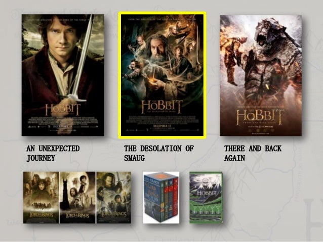 AN UNEXPECTED JOURNEY  THE DESOLATION OF SMAUG  THERE AND BACK AGAIN