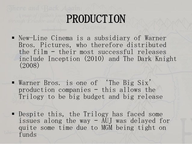 PRODUCTION  New-Line Cinema is a subsidiary of Warner Bros. Pictures, who therefore distributed the film – their most suc...