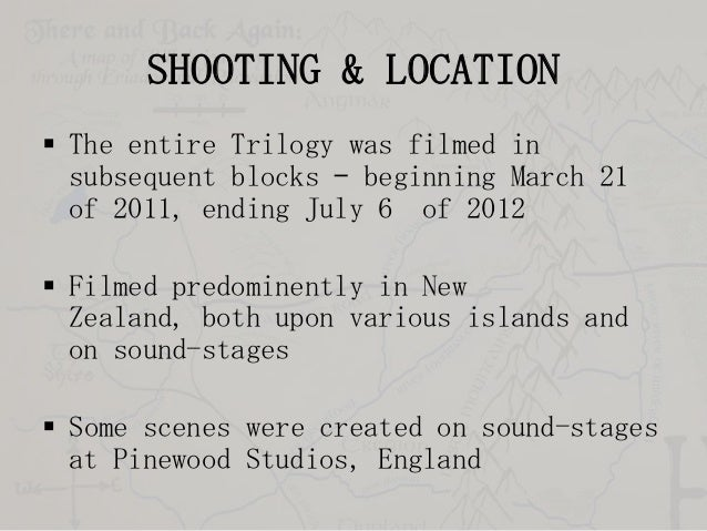 SHOOTING & LOCATION  The entire Trilogy was filmed in subsequent blocks – beginning March 21 of 2011, ending July 6 of 20...