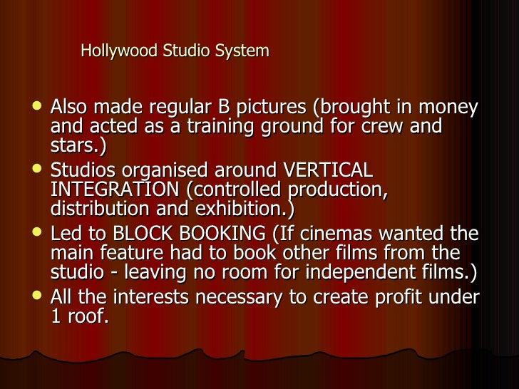 hollywood studio system collapse The hollywood studio system was geared toward creating a  but the collapse of  hollywood's economic and industrial model in the post–world.