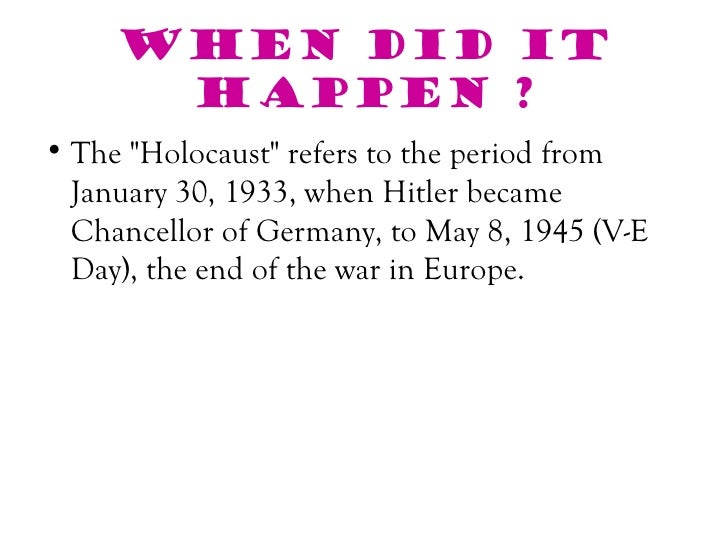 how could something like the holocaust happen