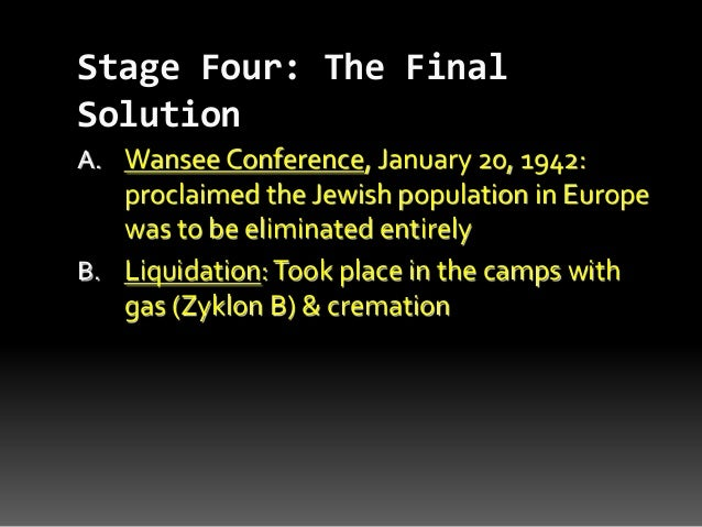 The Four Stages of the Holocaust