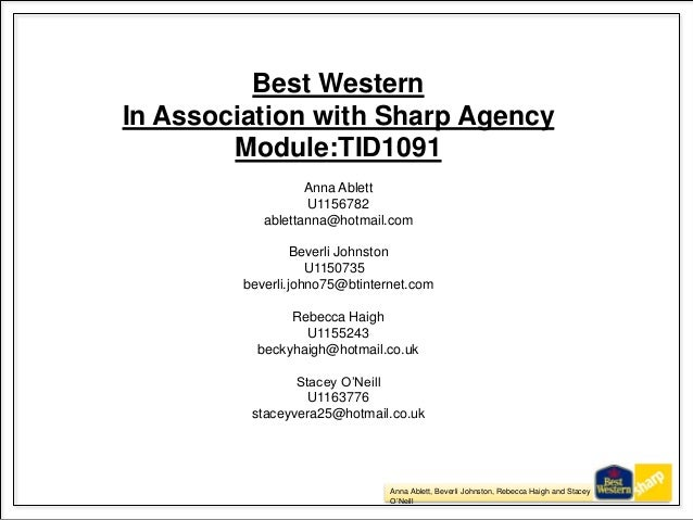 Anna Ablett, Beverli Johnston, Rebecca Haigh and Stacey O'Neill 1 Best Western In Association with Sharp Agency Module:TID...