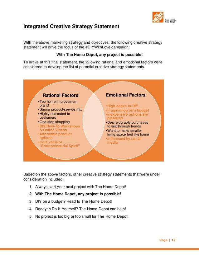 The home depot imc plan october 2014 millennial target market 17 solutioingenieria Images