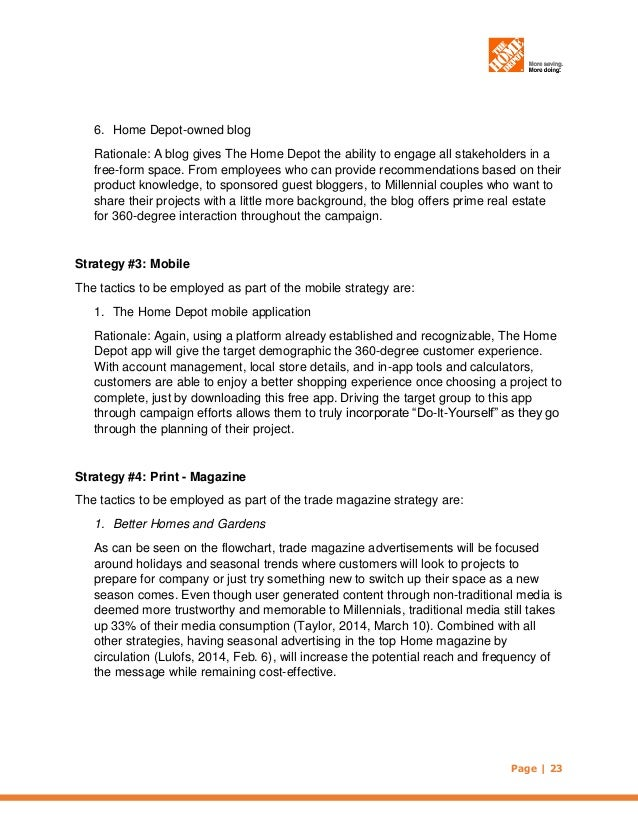 The Home Depot Imc Plan October 2014