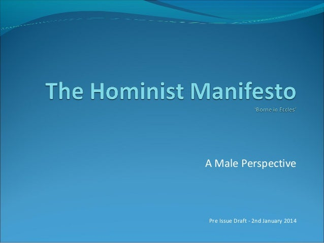 A Male Perspective  Pre Issue Draft - 2nd January 2014