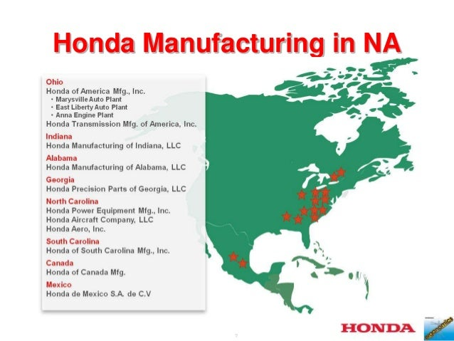 7 Honda Manufacturing In NA