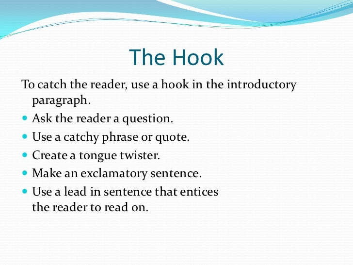 Ideas How to Write a Good Hooks for Essays