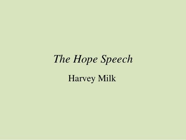 The Hope Speech  Harvey Milk