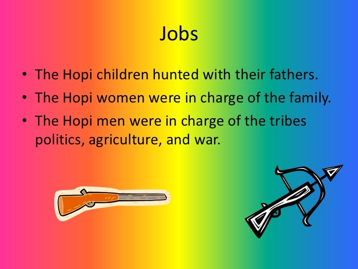 6 jobs the hopi children