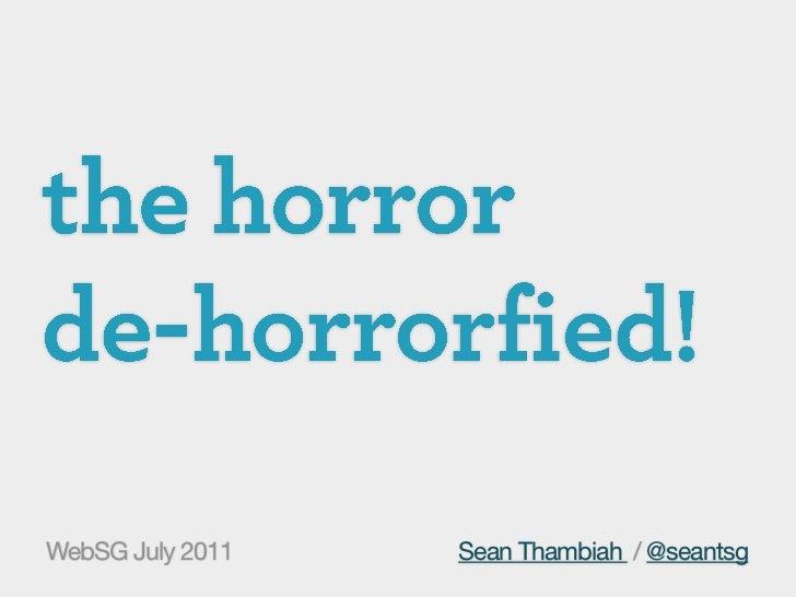 WebSG July 2011   Sean Thambiah / @seantsg