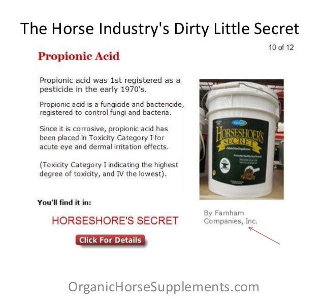 The Horse Industrys Dirty Little SecretOrganicHorseSupplements.com