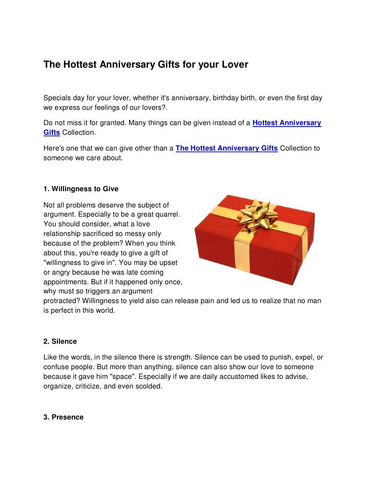 The Hottest Anniversary Gifts for your Lover   Specials day for your lover, whether it's anniversary, birthday birth, or e...
