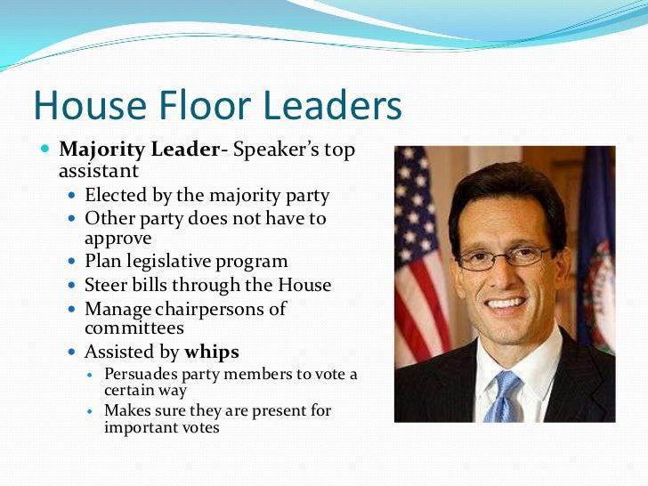 House Floor Leaders Majority ...