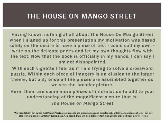 The house on mango street persuasive essay