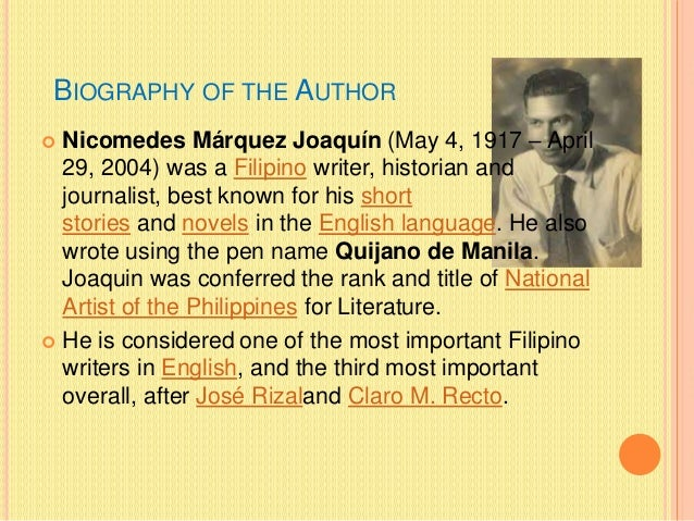 tatarin ni nick joaquin An analysis on the short story - tatarin/the summer solstice by nick joaquin.