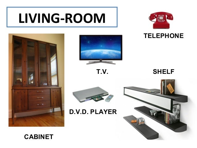 Vocabulary and expressions related with houses for Parts of the living room