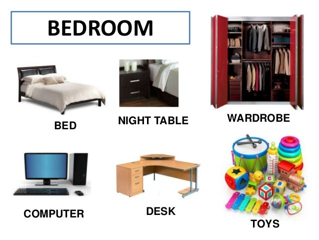 The house vocabulary for Living room y sus partes