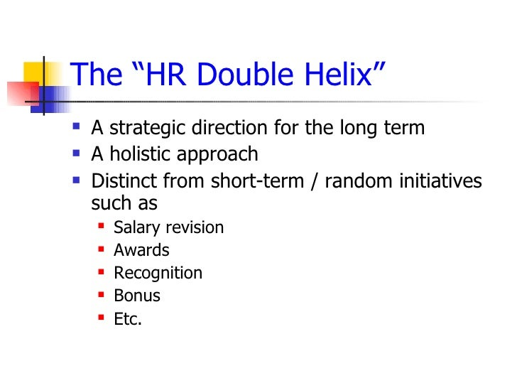 hr approaches and strategic initiatives
