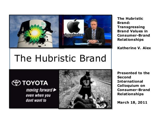 The Hubristic Brand Transgressing Values In Consumer