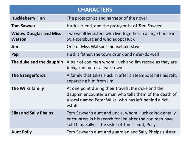 the roles in the novel huckleberry Throughout the novel the adventures of huckleberry finn we meet many characters  huckleberry finn – thesis  the roles they adopt are strategies to gull.
