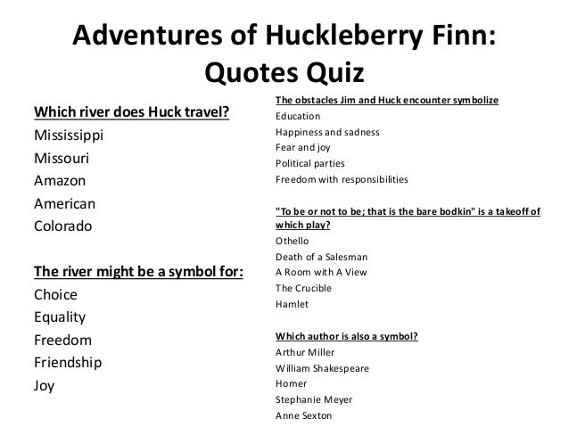 T He Huckleberry Finn Guided Reading Lesson Plan WASAN ABU