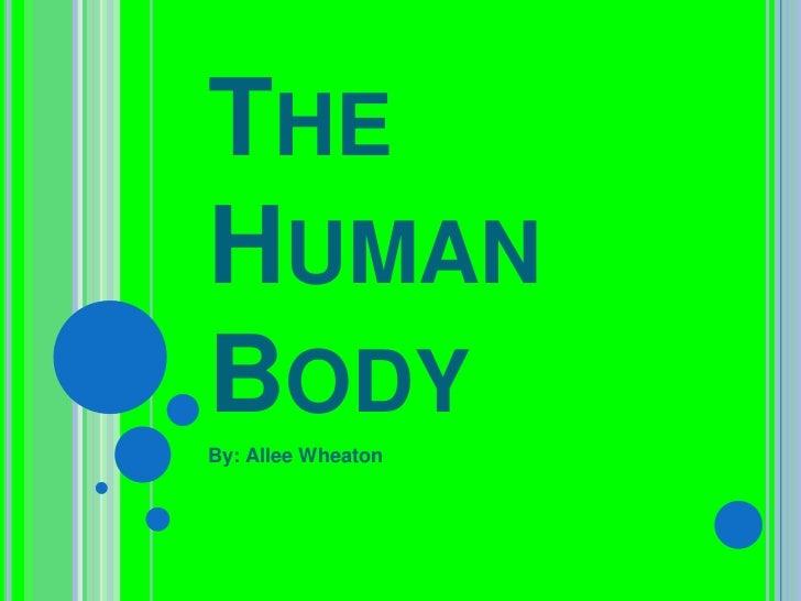 THEHUMANBODYBy: Allee Wheaton