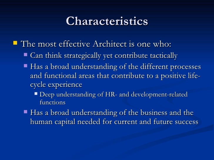 what are the characteristics of human capital