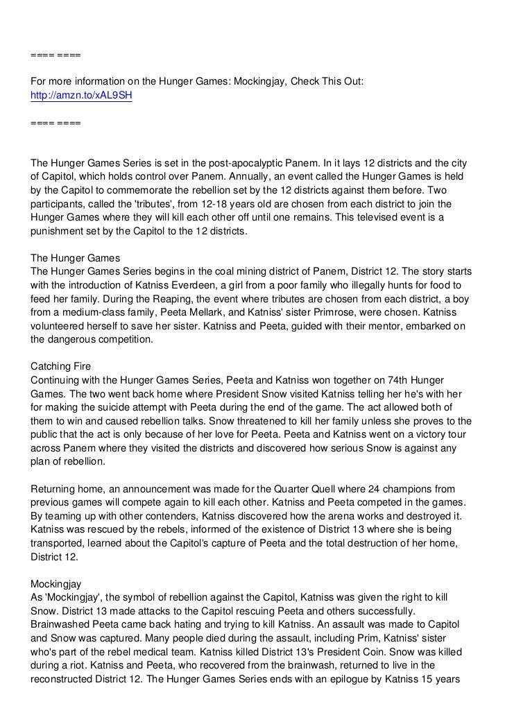 mockingjay book summary