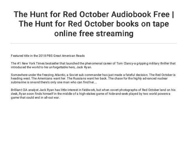 The Hunt for Red October Audiobook Free   The Hunt for Red