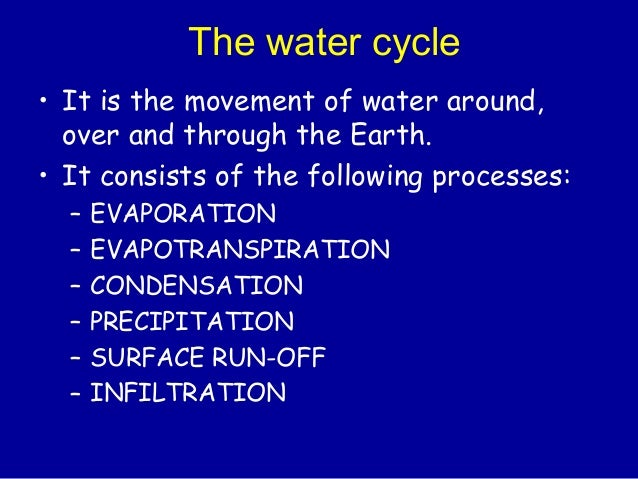 quote on hydrosphere All the water on the surface of the earth, including oceans, lakes, glaciers, etc: water vapor, clouds, etc may be considered part of the atmosphere or of the hydrosphere.
