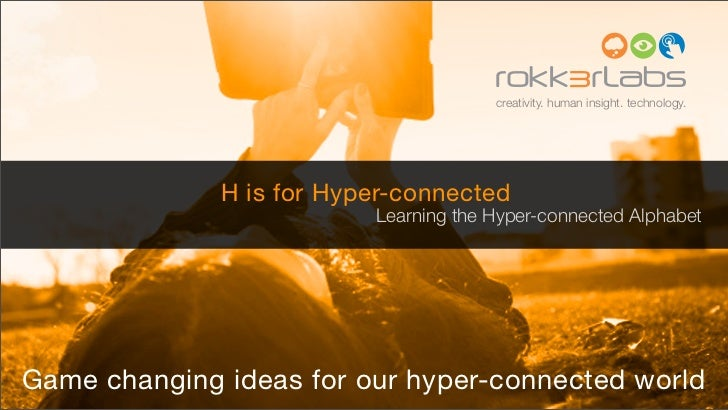 creativity. human insight. technology.              H is for Hyper-connected                          Learning the Hyper-c...