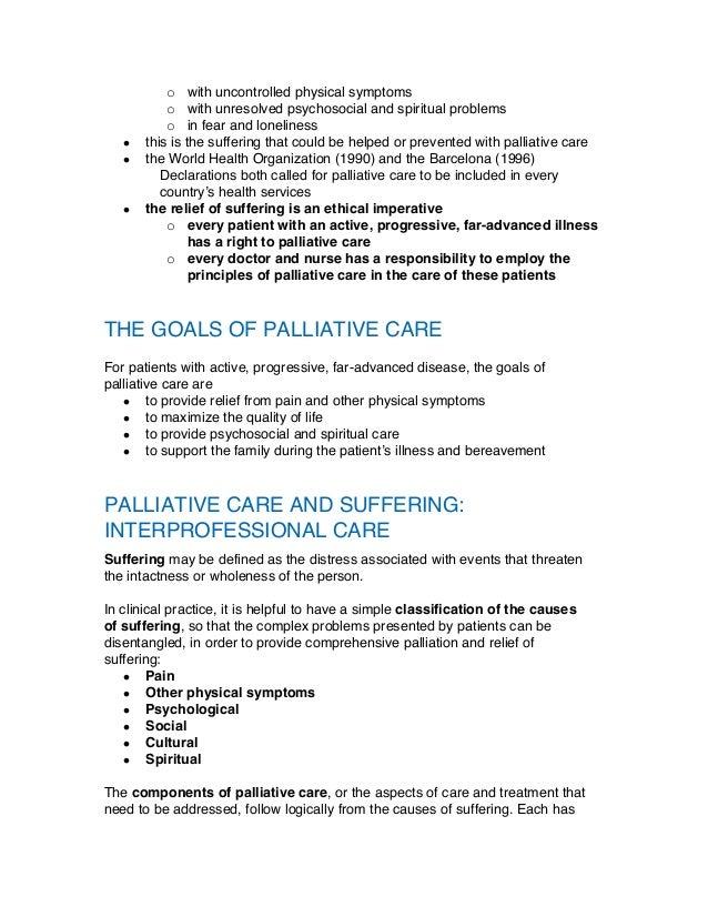 Palliative Care Term paper