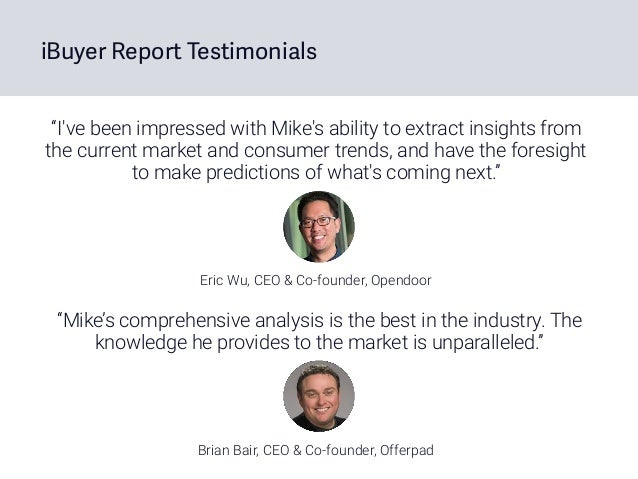 """""""I've been impressed with Mike's ability to extract insights from the current market and consumer trends, and have the for..."""