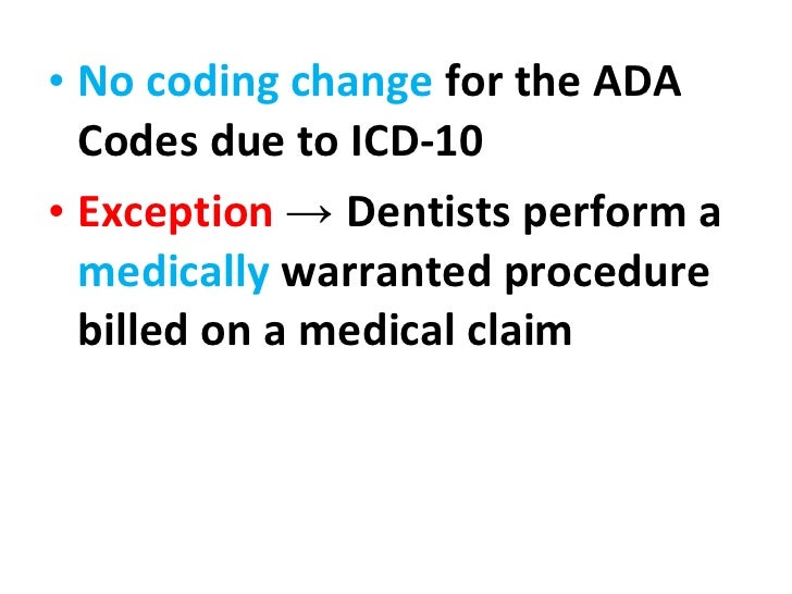 The ICD-10 Change-Over: Looking Ahead