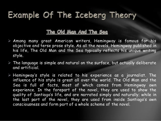 the iceberg theory th  6  ernest hemingway