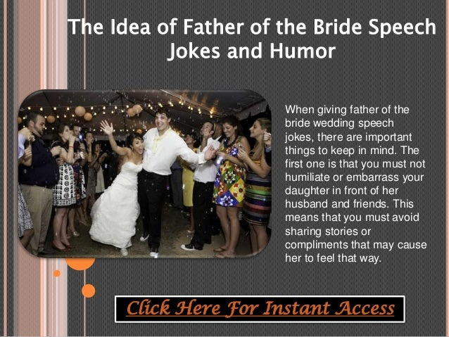The Idea Of Father Of The Bride Speech Jokes And Humor