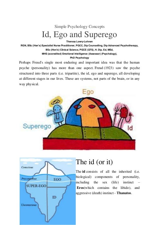 Id ego and superego and psychosexual stages