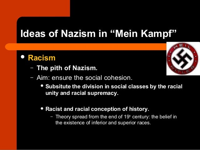 what was the nazis ideology in Although racism is said to spring from a belief that there are distinct human races  with distinctive characteristics which determine the moral and other qualities of.