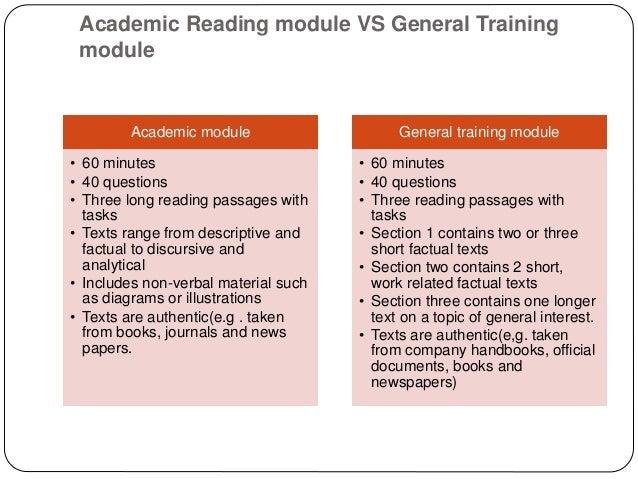 Ielts academic writing vs general training ielts