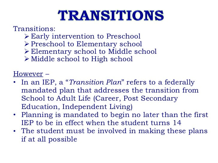 transition to highschool essay